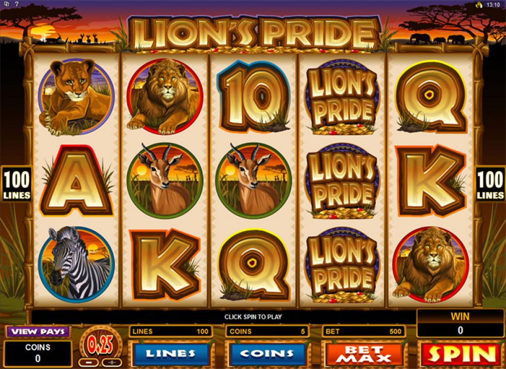 See The Layout of the Lions Pride Slots Game Bonuses